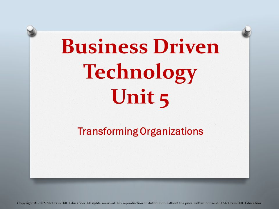 Business Driven Technology Unit 5