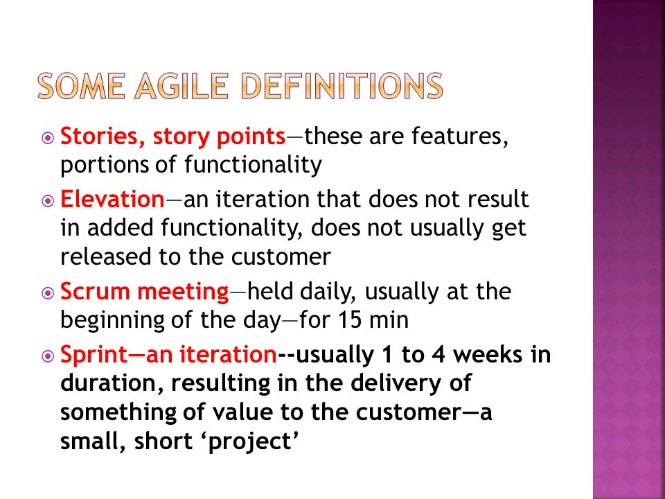 Some Agile definitions