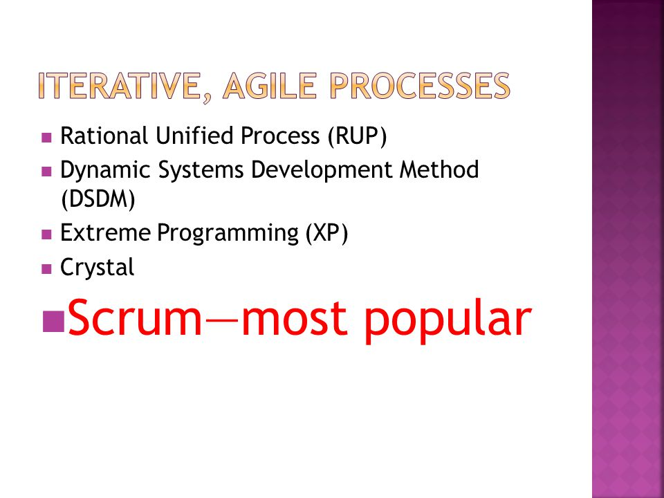 Iterative, Agile Processes