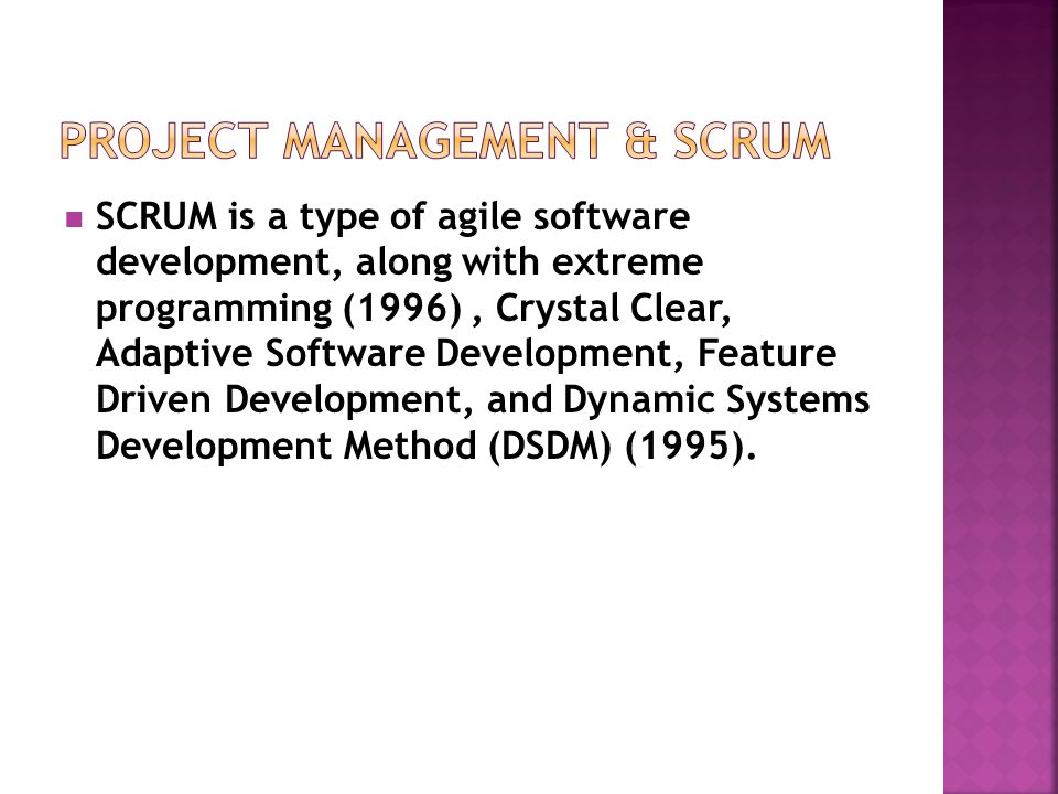 Project Management & SCRUM