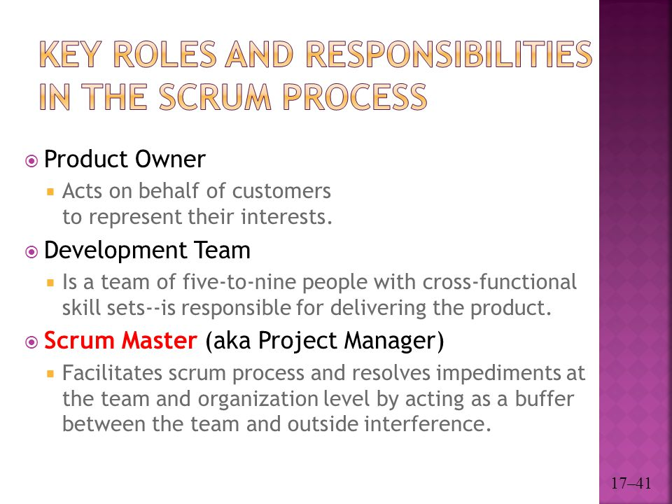 Key Roles and Responsibilities in the Scrum Process