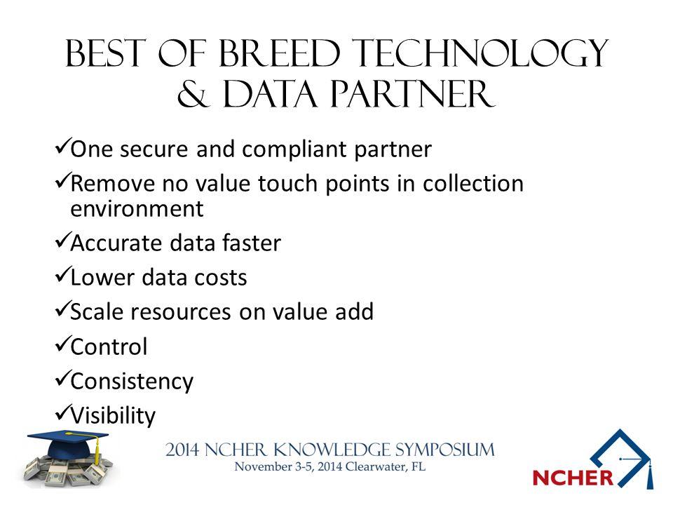 Best of breed technology & data partner
