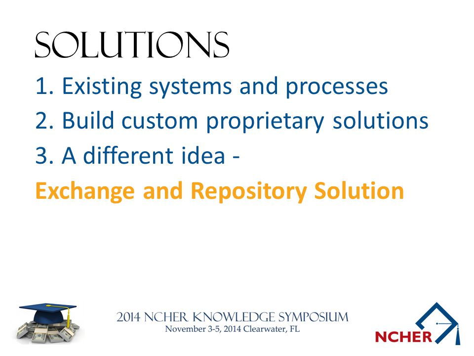 Solutions Existing systems and processes