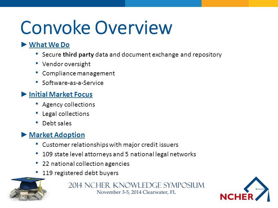 Convoke Overview What We Do Initial Market Focus Market Adoption