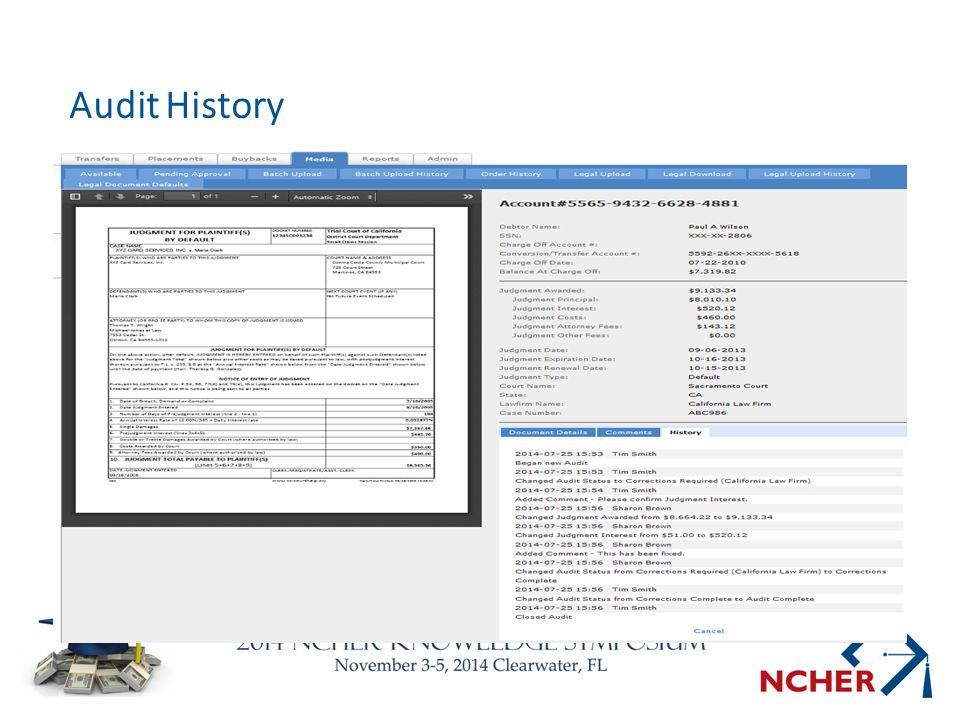 Audit History