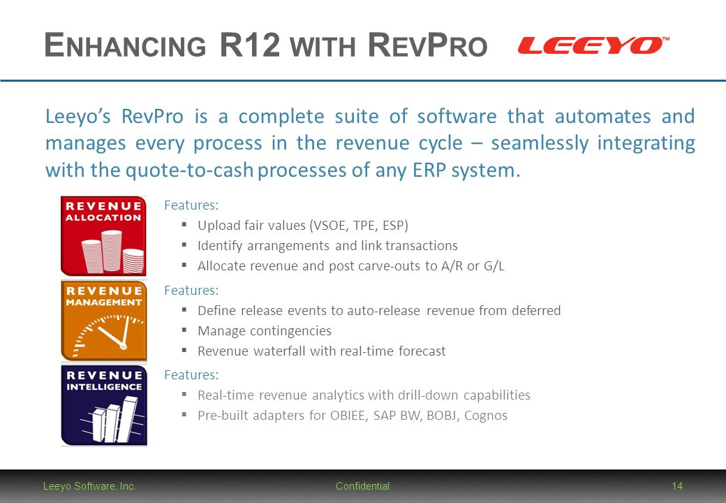 Enhancing R12 with RevPro