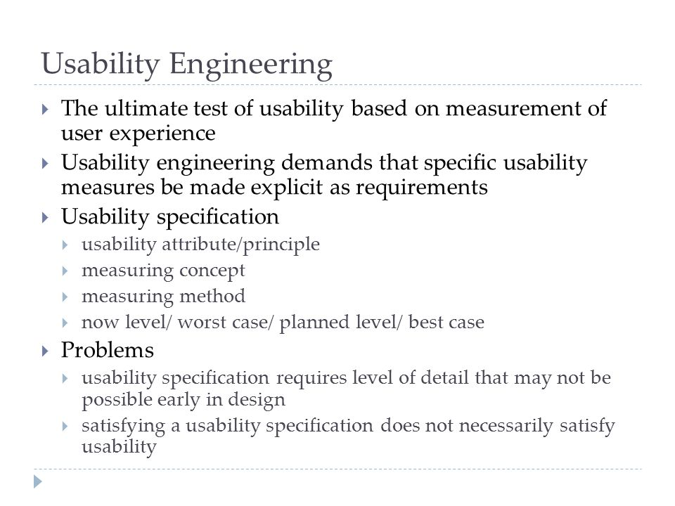 Usability Engineering