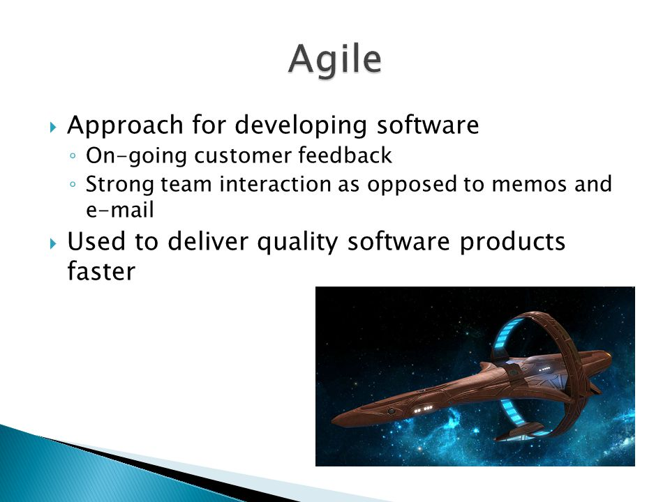 Agile Approach for developing software