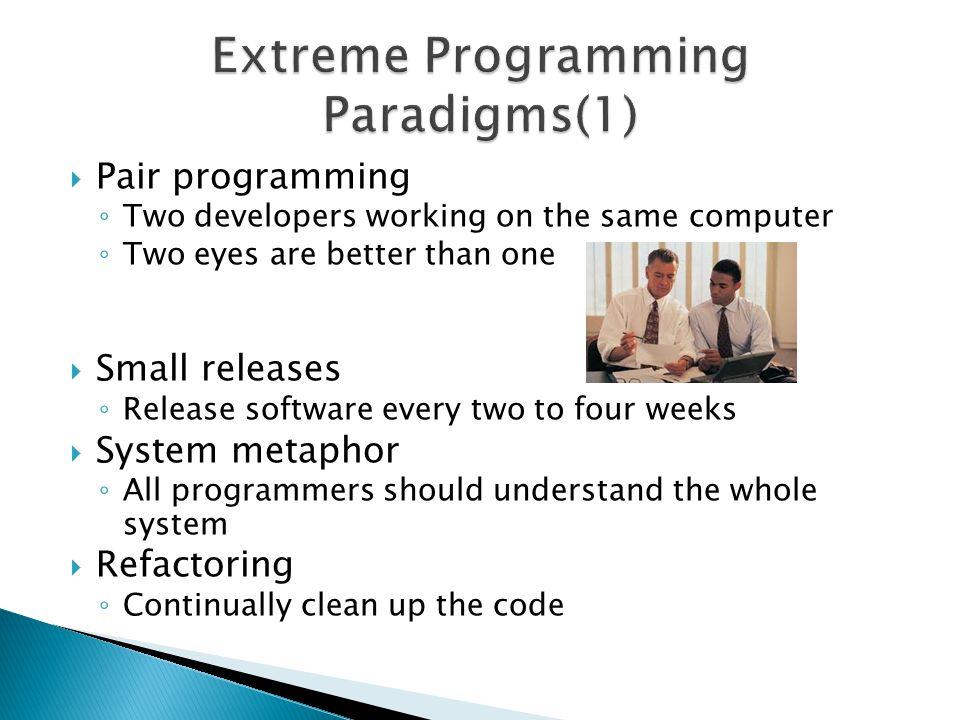 Extreme Programming Paradigms(1)