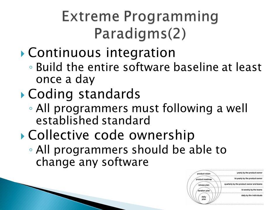 Extreme Programming Paradigms(2)