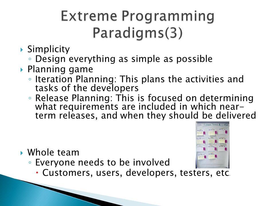 Extreme Programming Paradigms(3)