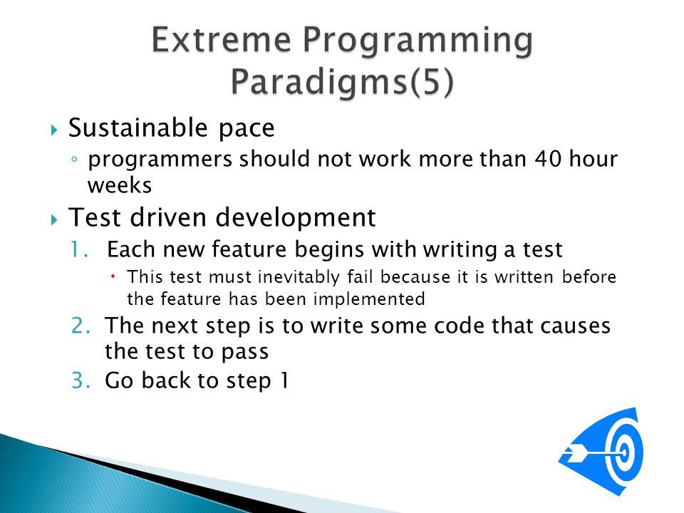 Extreme Programming Paradigms(5)
