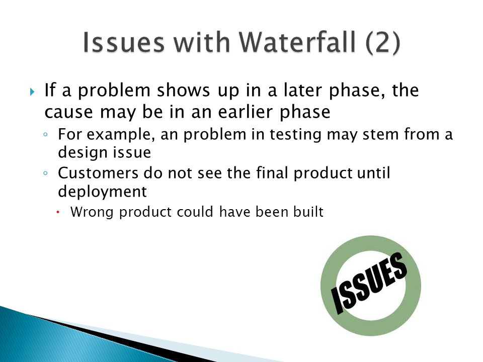 Issues with Waterfall (2)