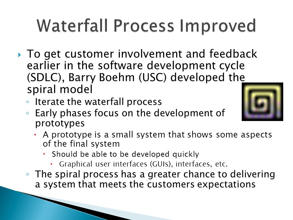 Waterfall Process Improved