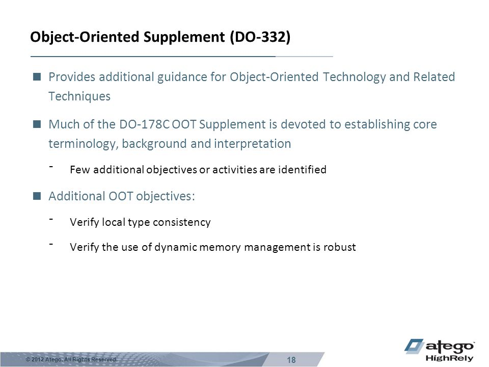 Object-Oriented Supplement (DO-332)