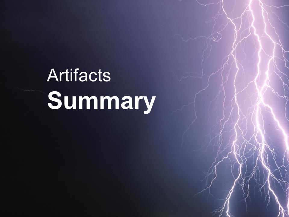 Artifacts Summary