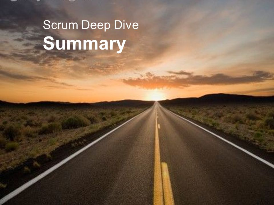Scrum Deep Dive Summary