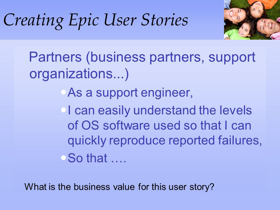 Creating Epic User Stories