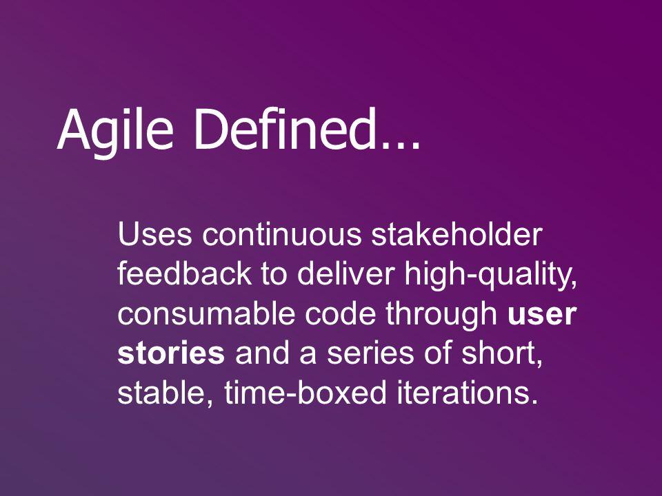 Agile Defined…