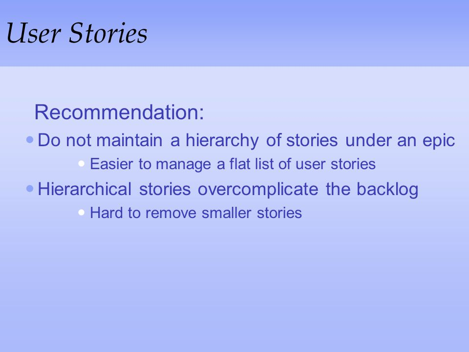 User Stories Recommendation: