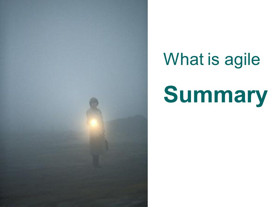 What is agile Summary