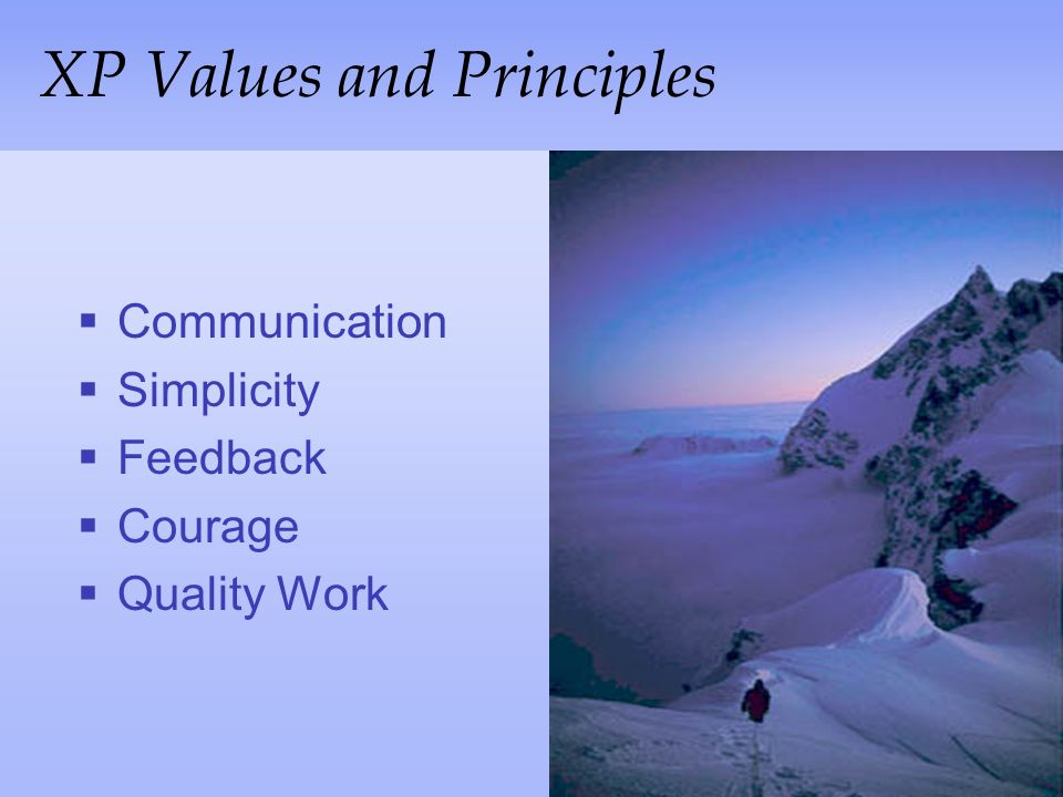 XP Values and Principles