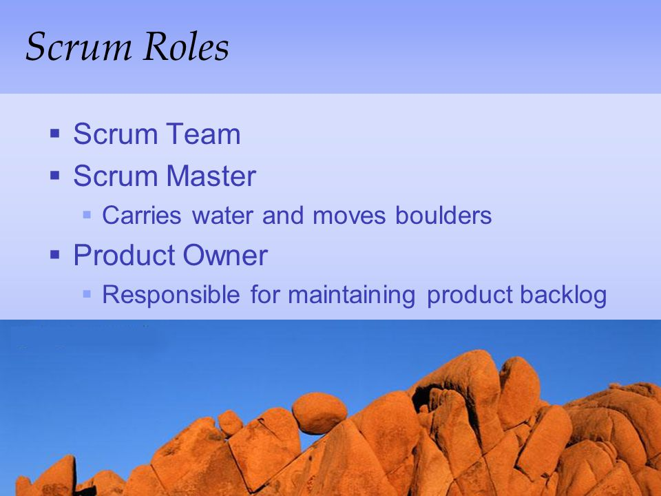 Scrum Roles Scrum Team Scrum Master Product Owner