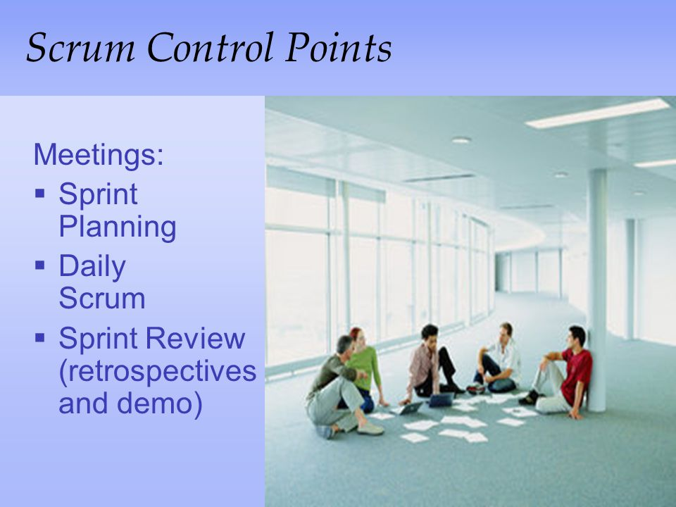Scrum Control Points Meetings: Sprint Planning Daily Scrum