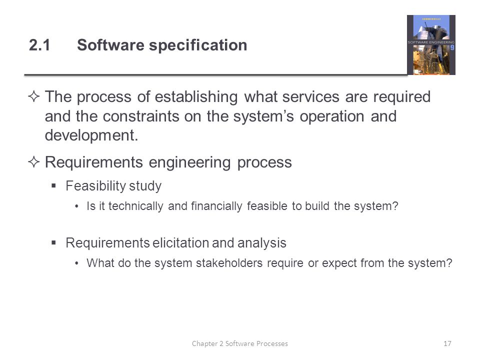 2.1 Software specification