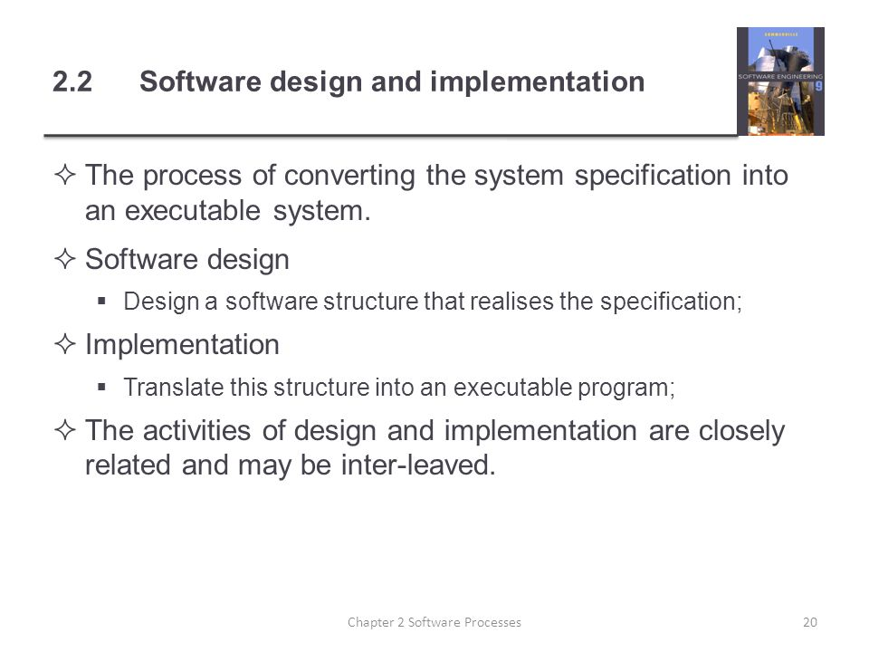 2.2 Software design and implementation