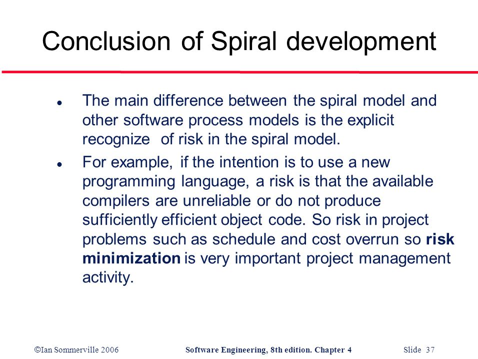 Conclusion of Spiral development