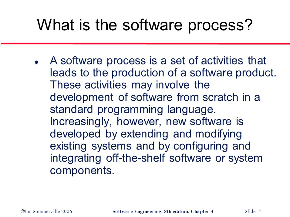 What is the software process