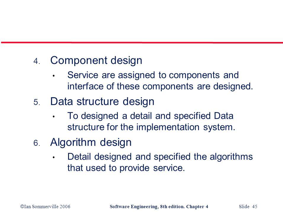 Component design Data structure design Algorithm design