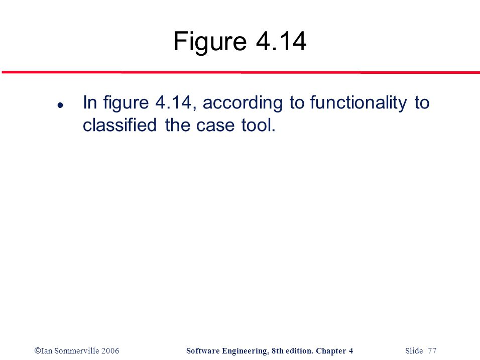 Figure 4.14 In figure 4.14, according to functionality to classified the case tool.