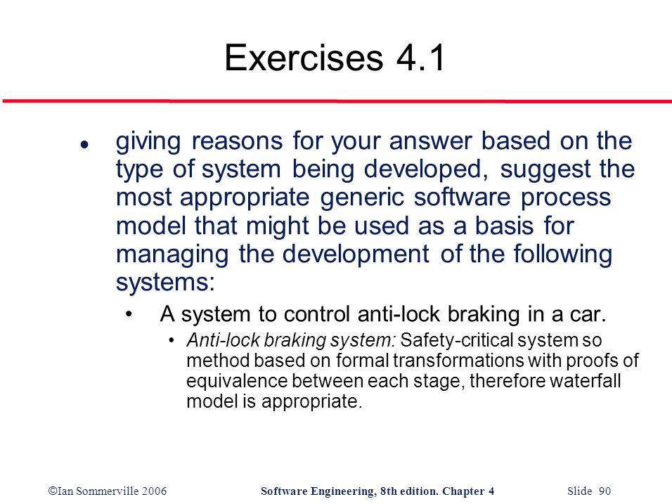 Exercises 4.1
