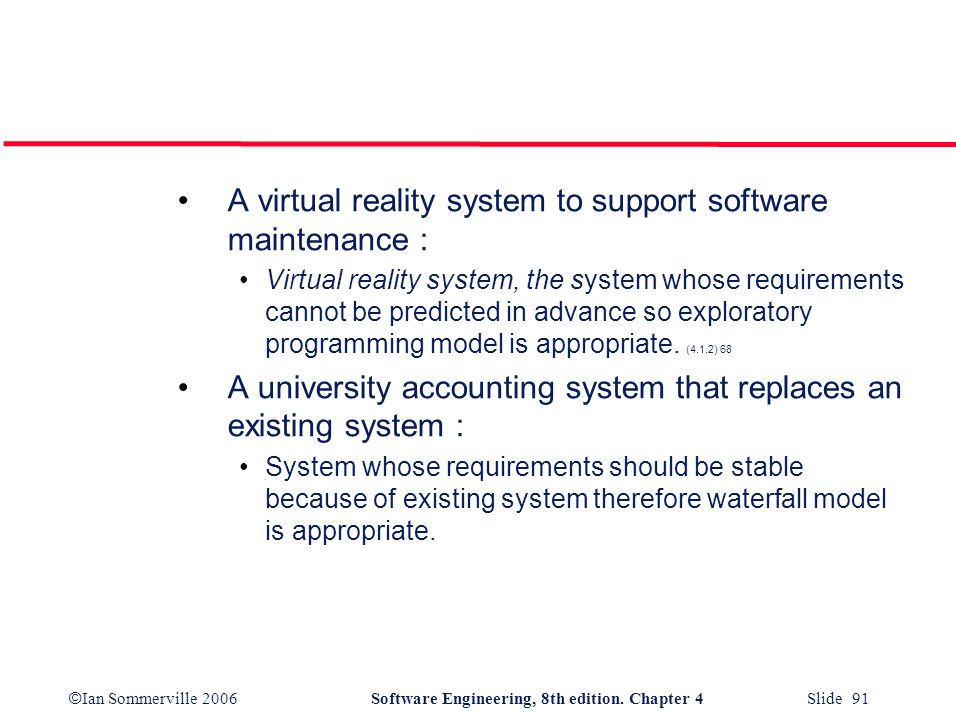 A virtual reality system to support software maintenance :