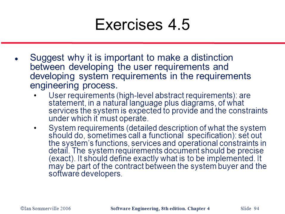 Exercises 4.5