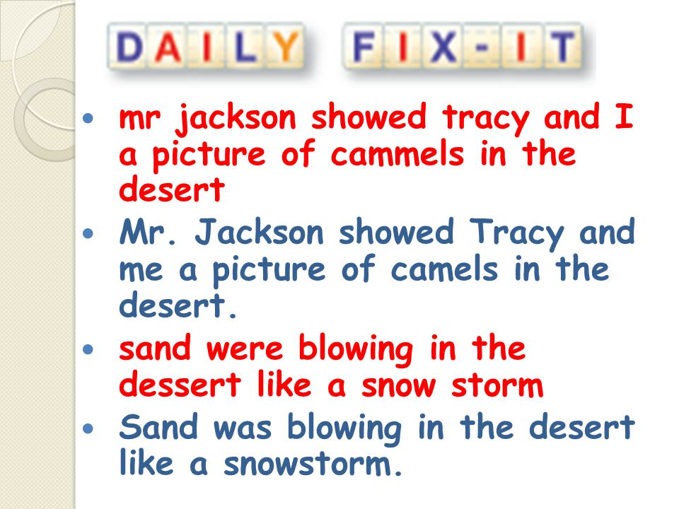 mr jackson showed tracy and I a picture of cammels in the desert