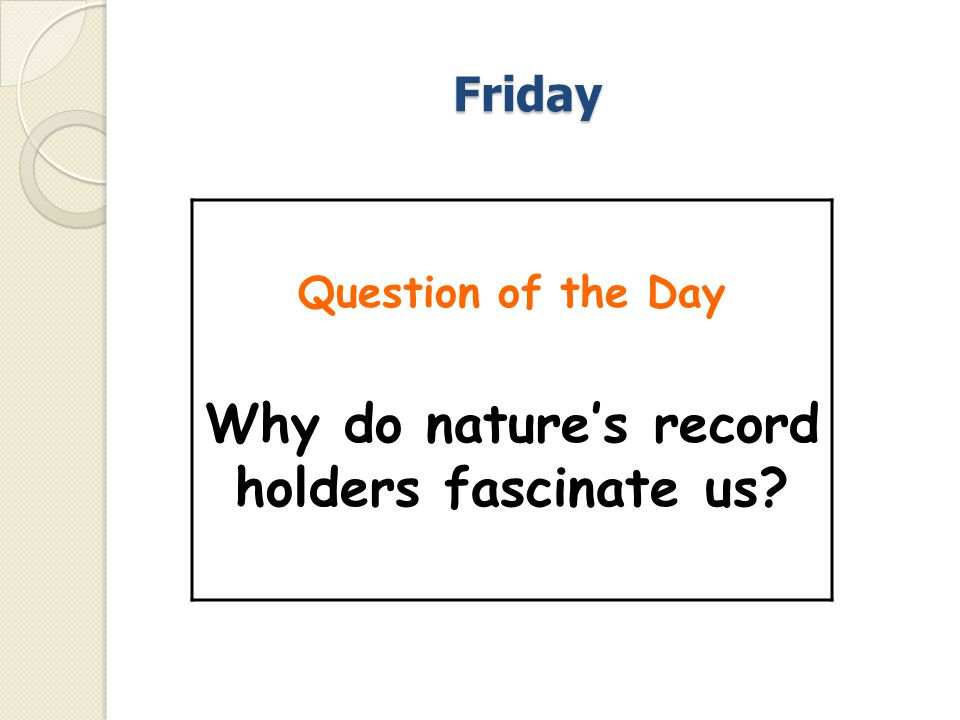 Why do nature's record holders fascinate us