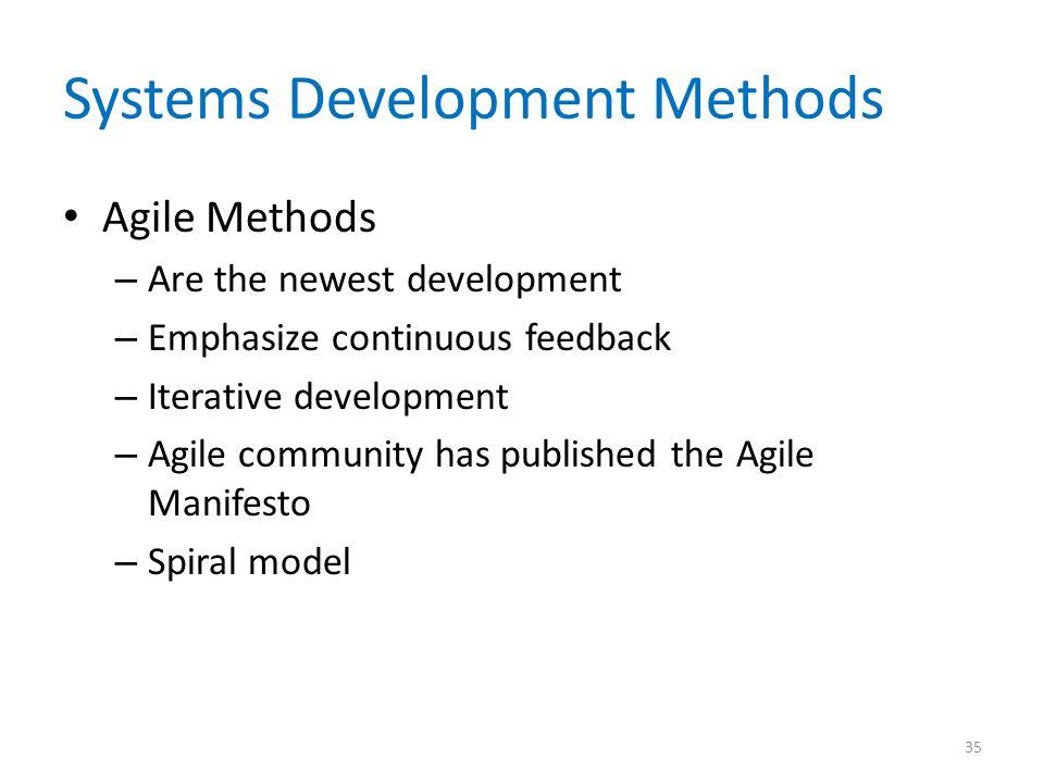 Systems Development Methods