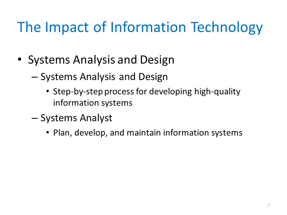 The Impact of Information Technology