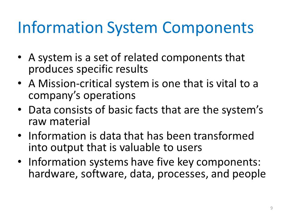 Information System Components