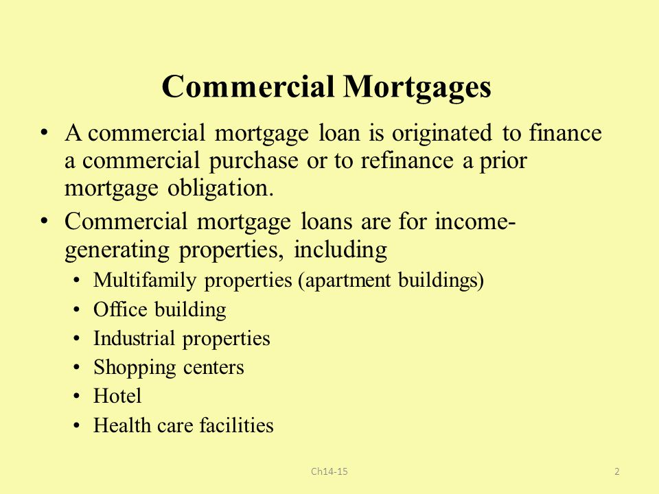 Apartment Building Refinance commercial mortgages, cmbs, abs, cdo - ppt download