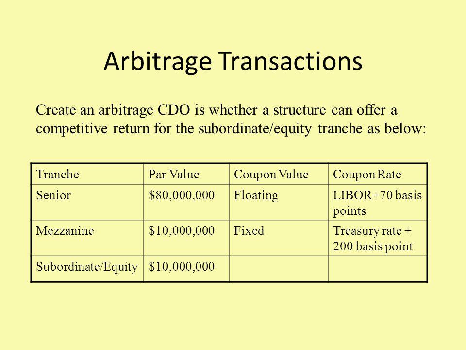 Arbitrage Transactions