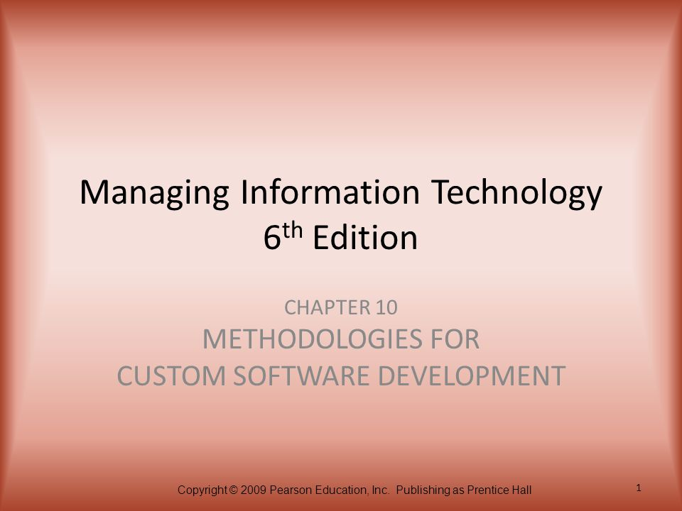 Managing Information Technology 6th Edition