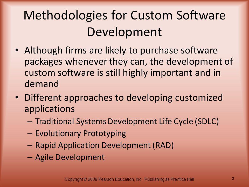 Methodologies for Custom Software Development