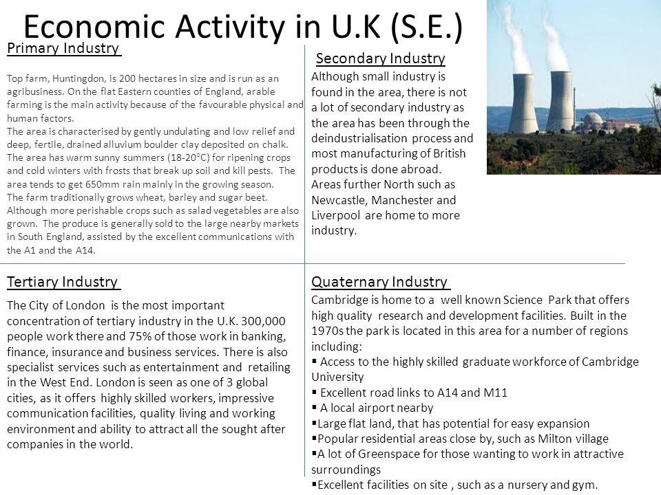 Economic Activity in U.K (S.E.)