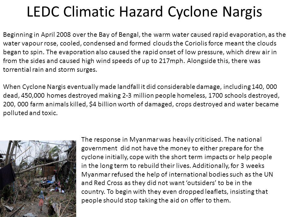 LEDC Climatic Hazard Cyclone Nargis