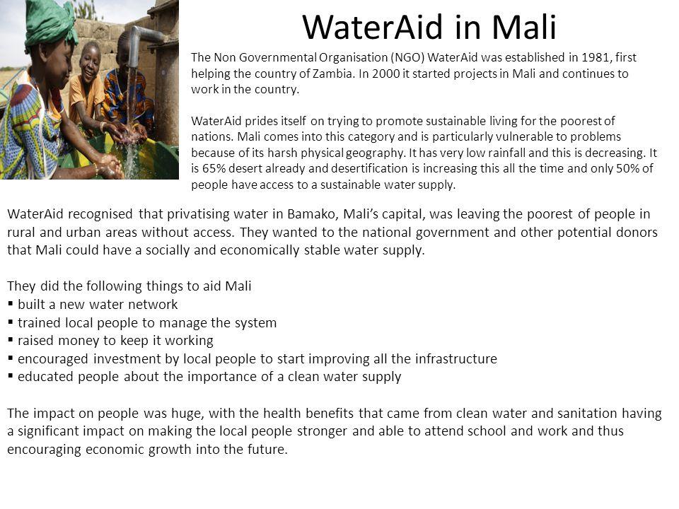 WaterAid in Mali