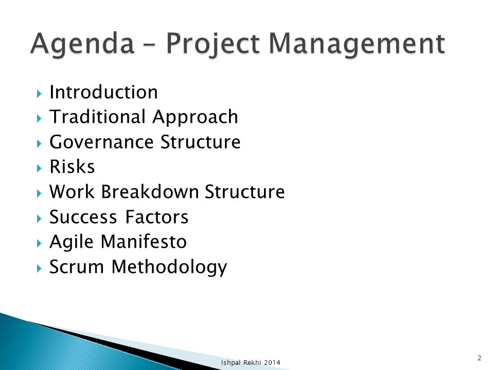 Agenda – Project Management